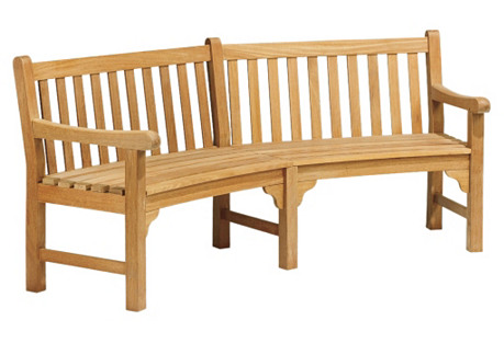 Elle Curved Bench