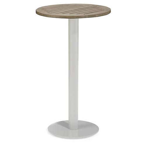 Toshi Round Tekwood Bar Table, Ash