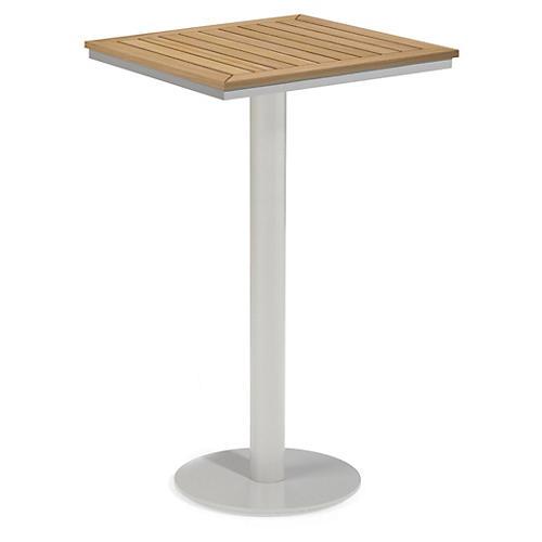 Toshi Square Tekwood Bar Table, Natural