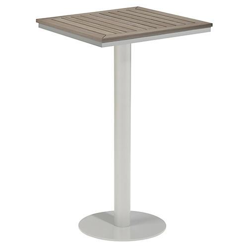 Toshi Square Tekwood Bar Table, Ash