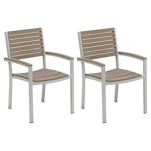 Ash Toshi Outdoor Armchairs, Pair