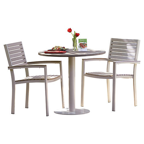 Mission 3-Pc Bistro Table Set