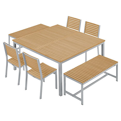 Charleston 7-Piece Dining Set, Natural