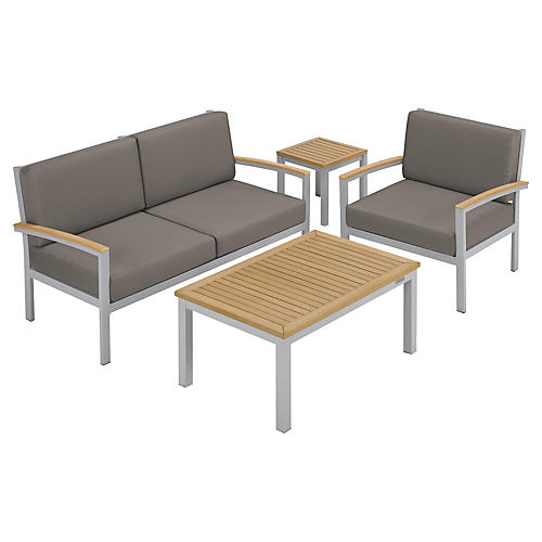 Charleston 4-Piece Seating Set, Natural