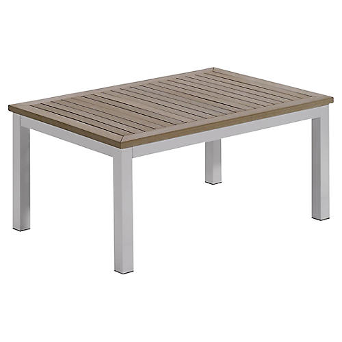 Charleston Coffee Table, Weathered Gray