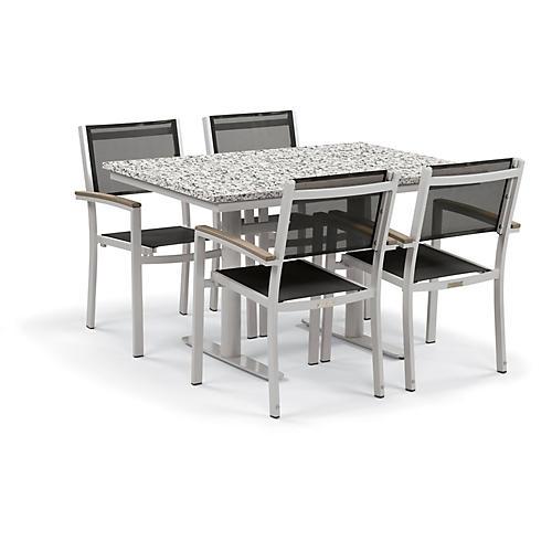 Travira 5-Pc Dining Set, Black