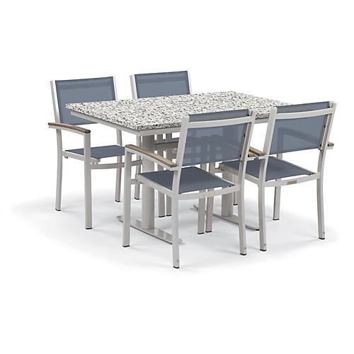 Travira 5-Pc Dining Set, Blue