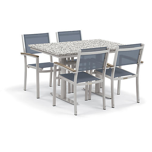 Travira 5-Pc Dining Set, Blue