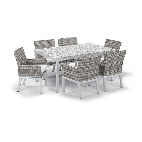 Travira 7-Pc Dining Set, Eggshell