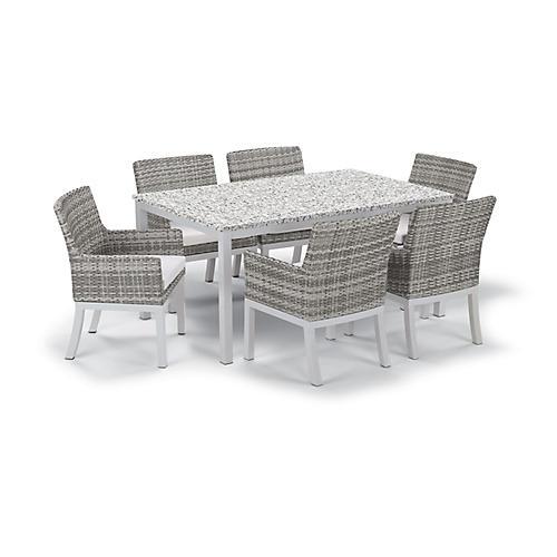 Travira 7-Pc Dining Set, Eggshell