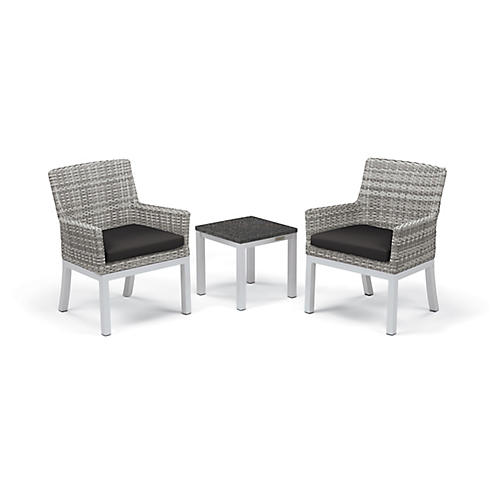 Asst. of 3 Travira Conversation Set, White