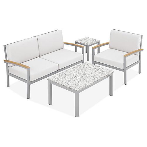 Travira 4-Pc Lounge Set, Eggshell
