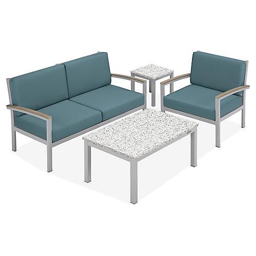 Travira 4-Pc Lounge Set, Ice Blue