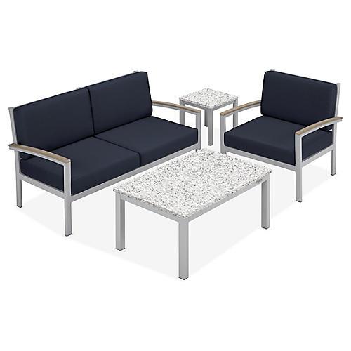 Travira 4-Pc Lounge Set, Midnight Blue