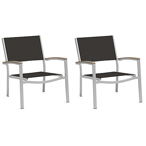 S/2 Travira Club Chair, Ninja Black