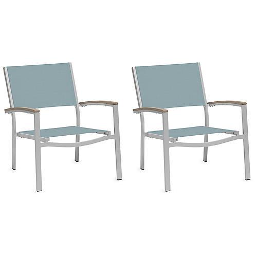 S/2 Travira Club Chair, Slate