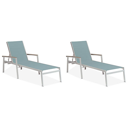 S/2 Travira Chaise, Slate