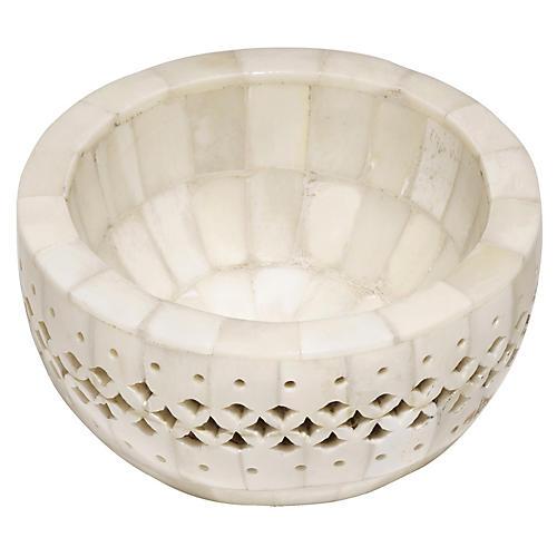 "4"" Chantilly Decorative Bowl, Ivory"