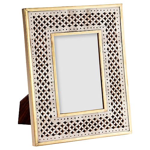 Chantilly Frame, Ivory/Gold