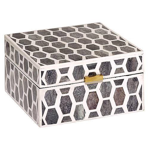 Gramercy Box, Gray/White