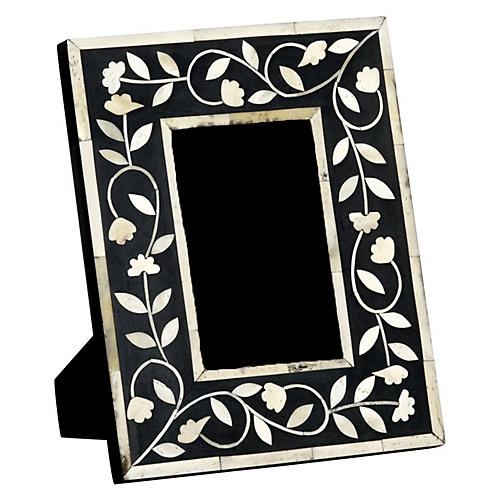 4x6 Imperial Beauty Frame, Bone/Black