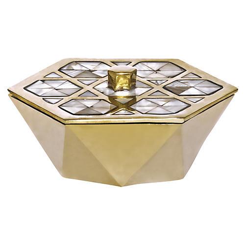 """6"""" Monroe Box, Gold"""