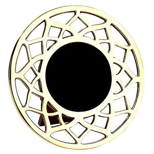 4x4 Noor Round Frame, Gold