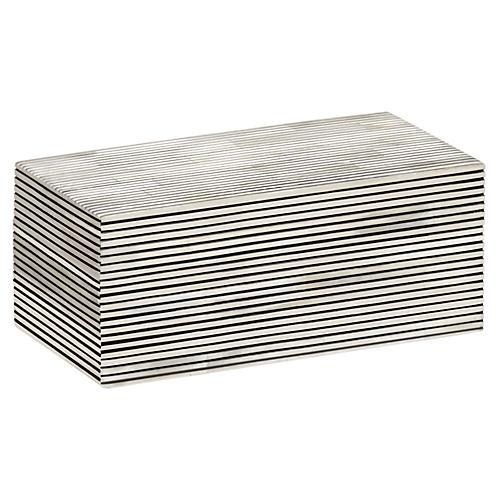 Pinstripe Box, Black/White