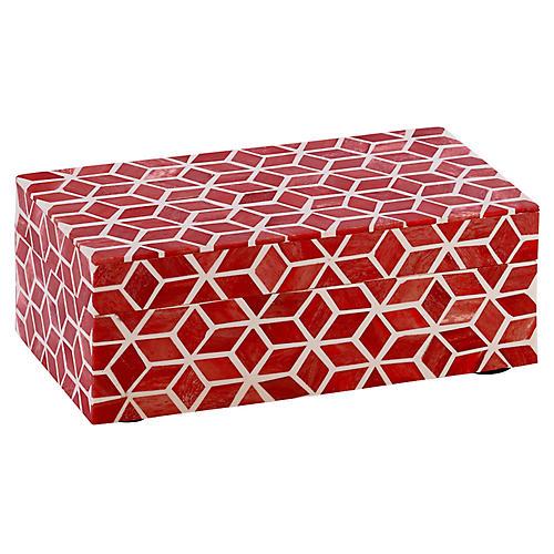 """9"""" Starshine Box, Marsala Red"""
