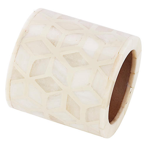 Starshine Napkin Ring, Ivory