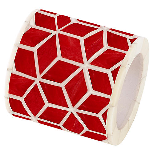 Starshine Napkin Ring, Marsala Red