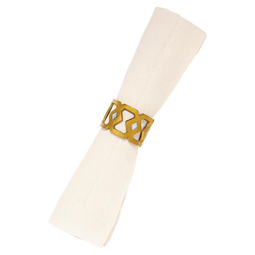 Monroe Napkin Ring, Gold