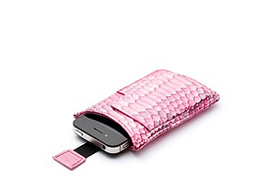 iPhone Sleeve, Pink Python