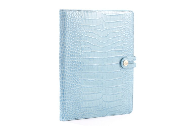 iPad Case, Blue Crocodile