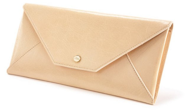 Leather Travel Wallet, Sand