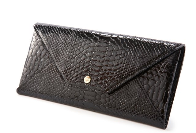 Travel Envelope, Black Python