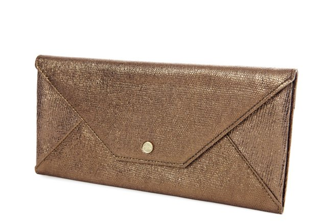 Travel Envelope, Gold Goatskin