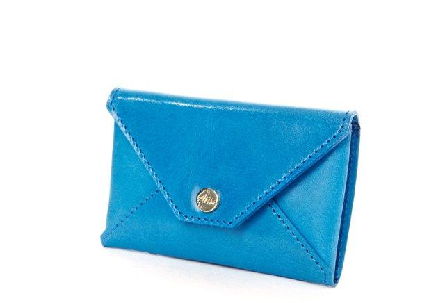Card Case, Blue Nubuck