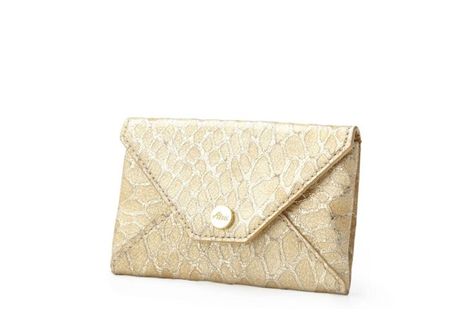 Embossed Card Case, Gold