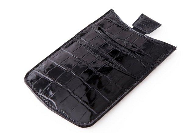 Sleeve iPhone Case, Black Croc