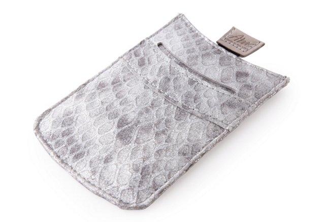 Sleeve iPhone Case, Silver Python