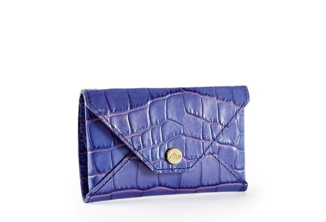 Embossed Card Case, Blue/Violet