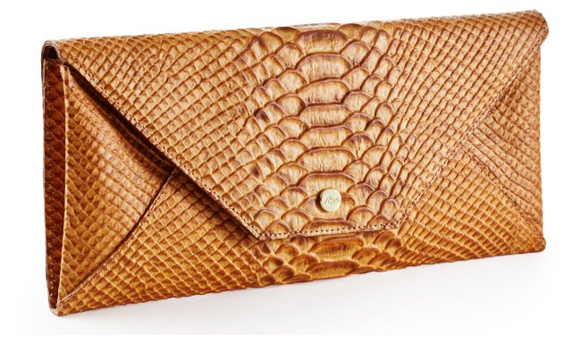 Embossed Travel Envelope, Caramel