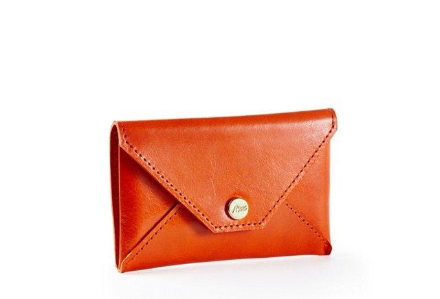 Envelope Card Case, Orange