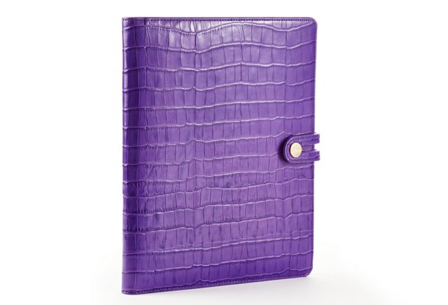 Embossed iPad Case w/ Easel, Purple