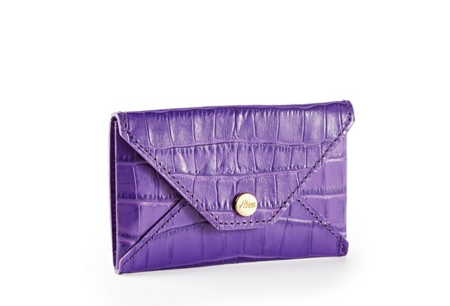 Embossed Card Case, Purple