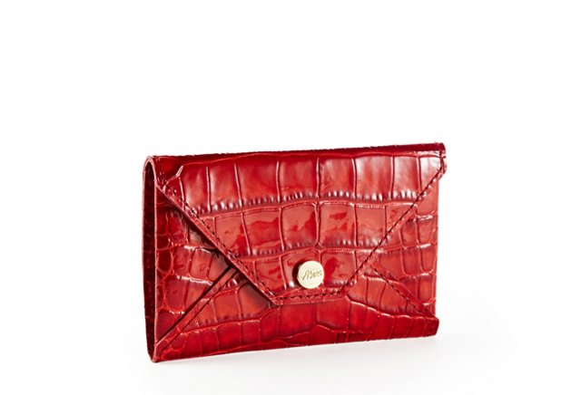 Embossed Card Case, Red