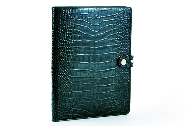 Croc Embossed iPad Case, Teal
