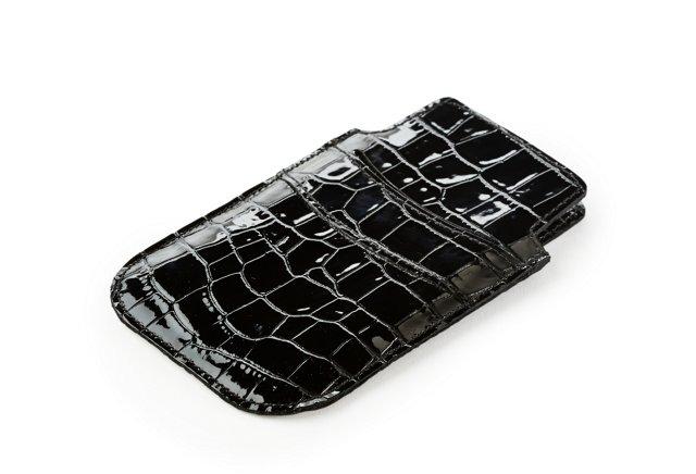 Embossed iPhone Sleeve, Black