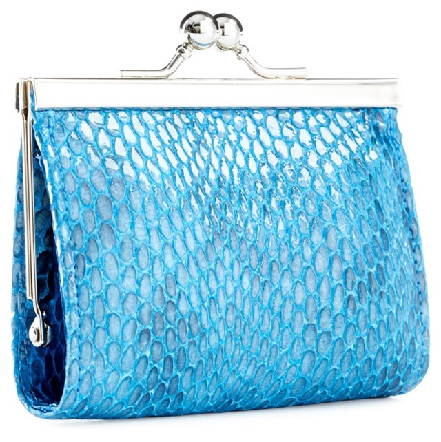 Framed Coin Purse, Blue